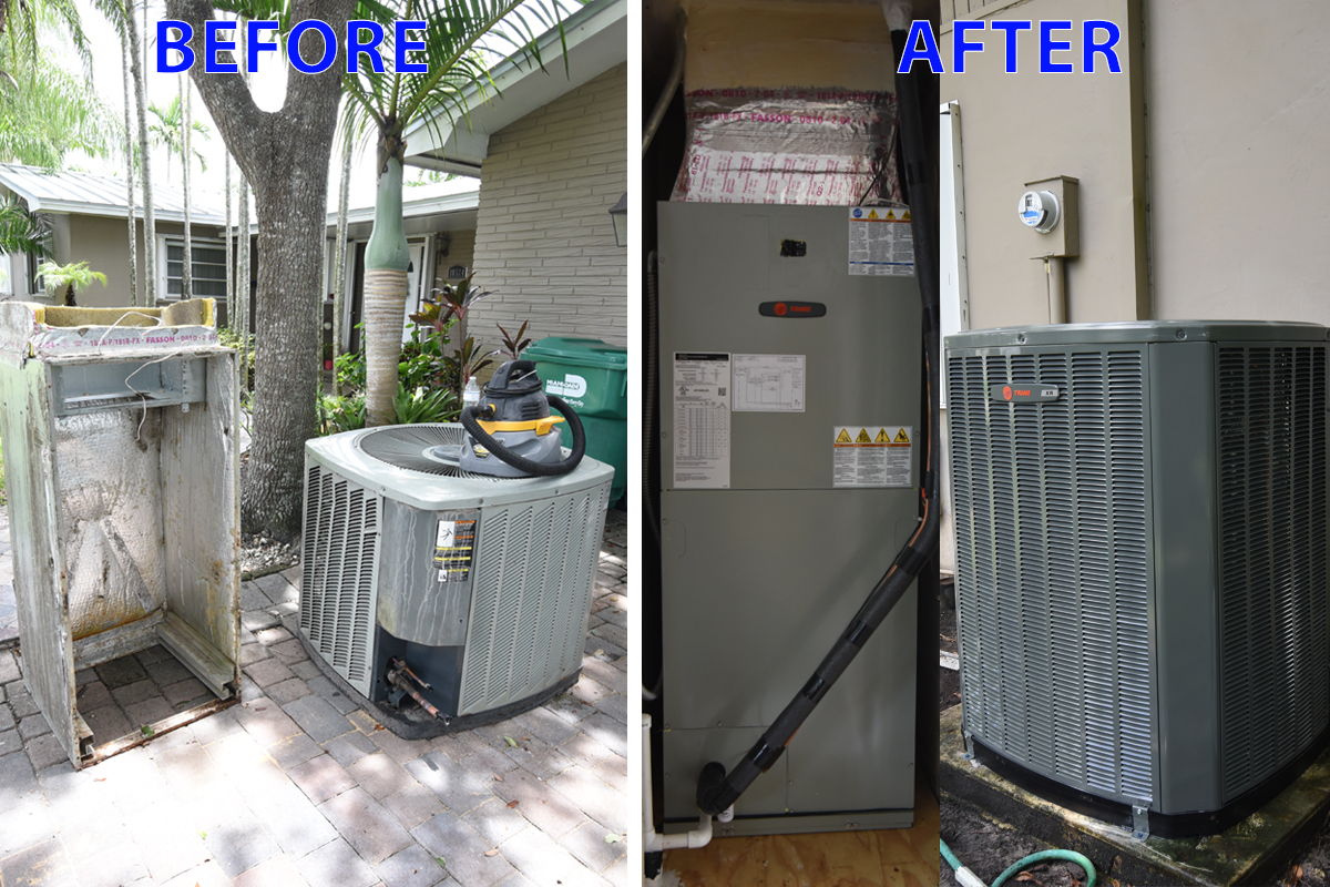 TRANE A/C Repair Installation in Pinecrest